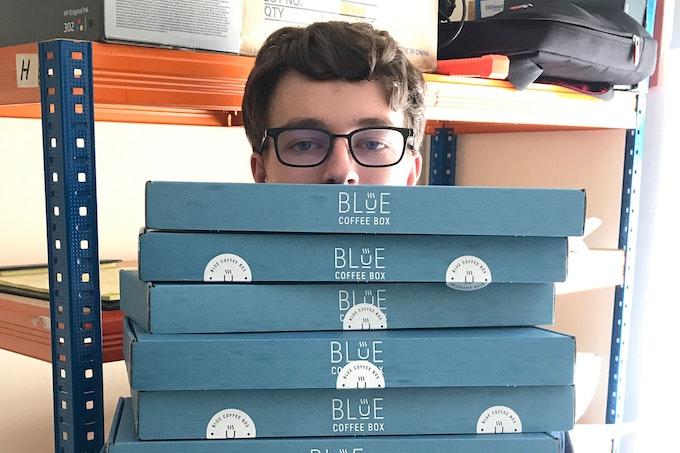 Blue Coffee Box | Meet The Maker Header