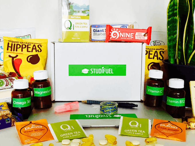 Studifuel the healthy student subscription box