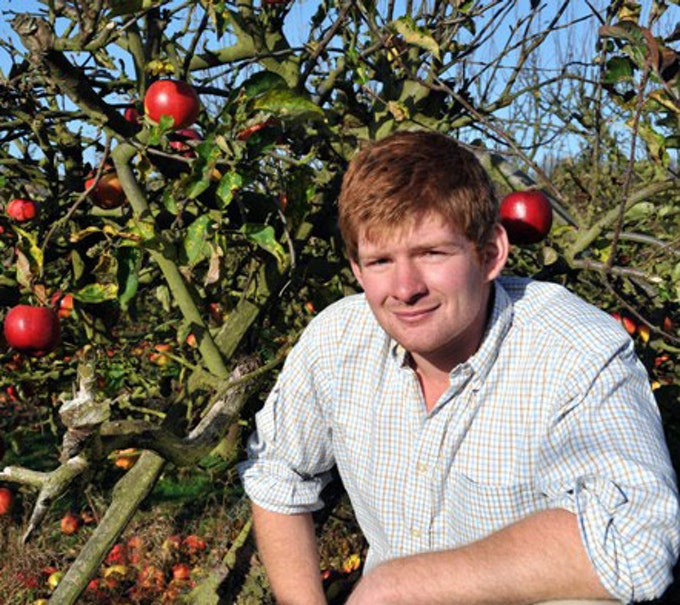 Charlie from Perry Court Farm who produce Air Dried Fruit Crisps