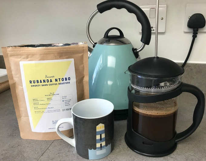 Blue Coffee Box | Staff Review Header