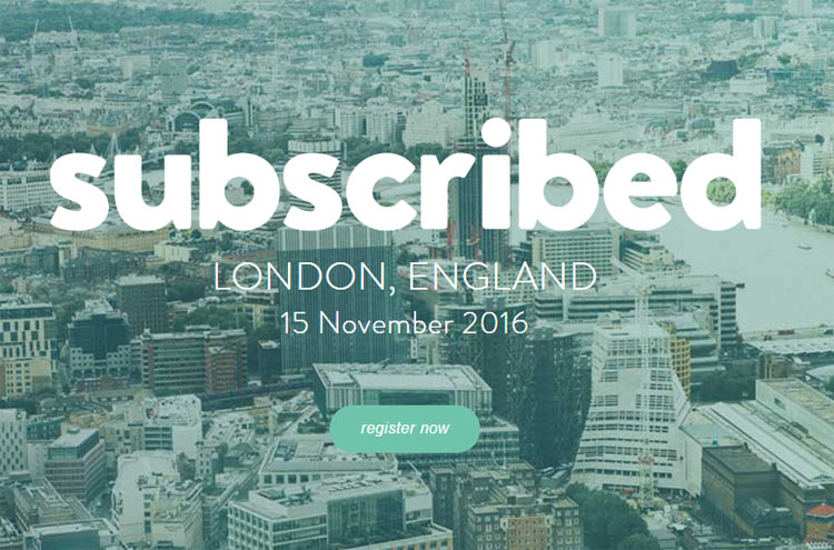 Subscribed – Conference – November 15th