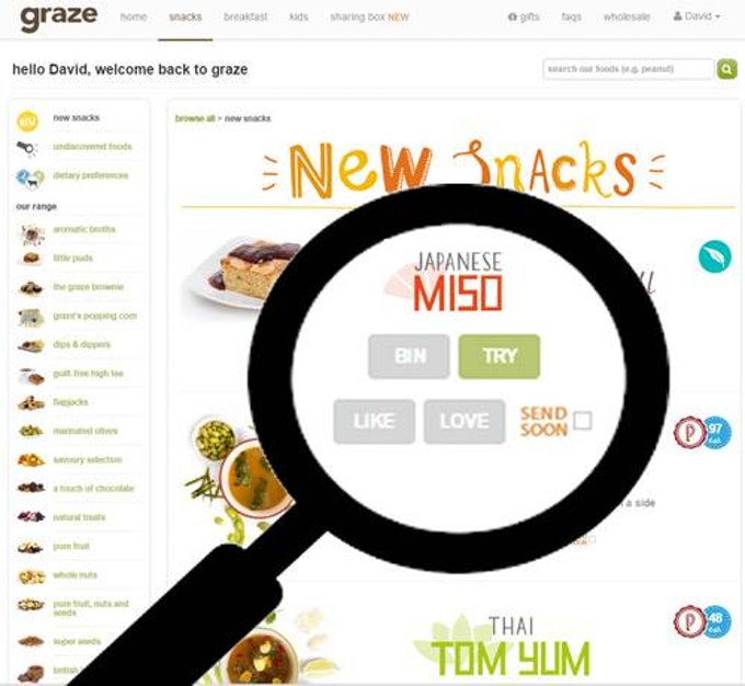 Customise Graze