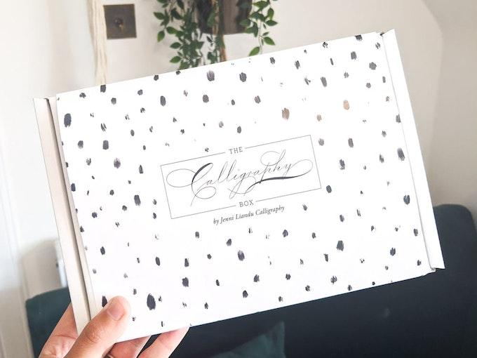 jenni lindu calligraphy subscription box in February